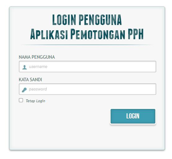 Aplikasi Pemotongan PPH 21